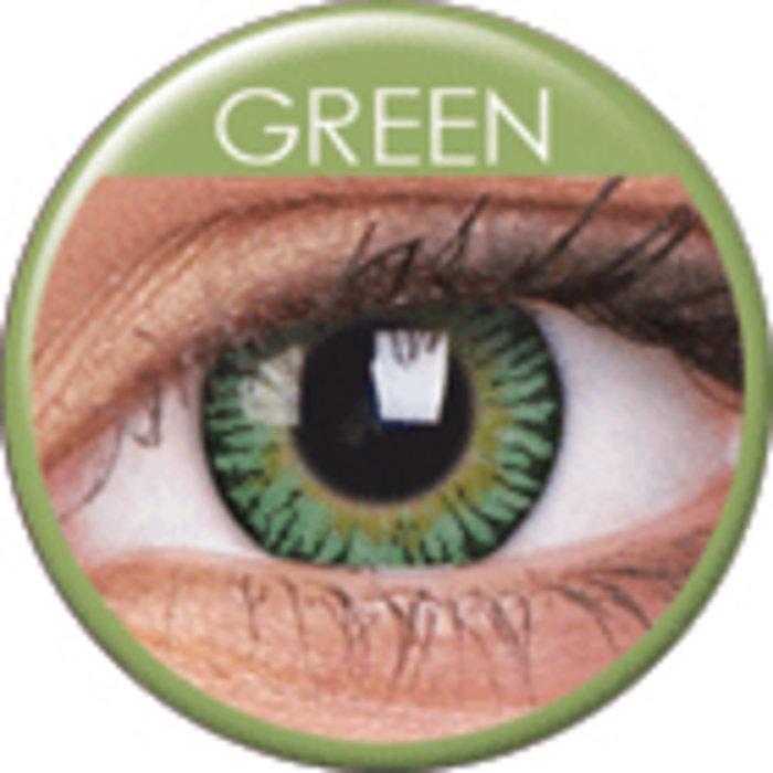maxvue vision ColourVue 3 Tones - Green (2 čočky tříměsíční) - nedioptrické