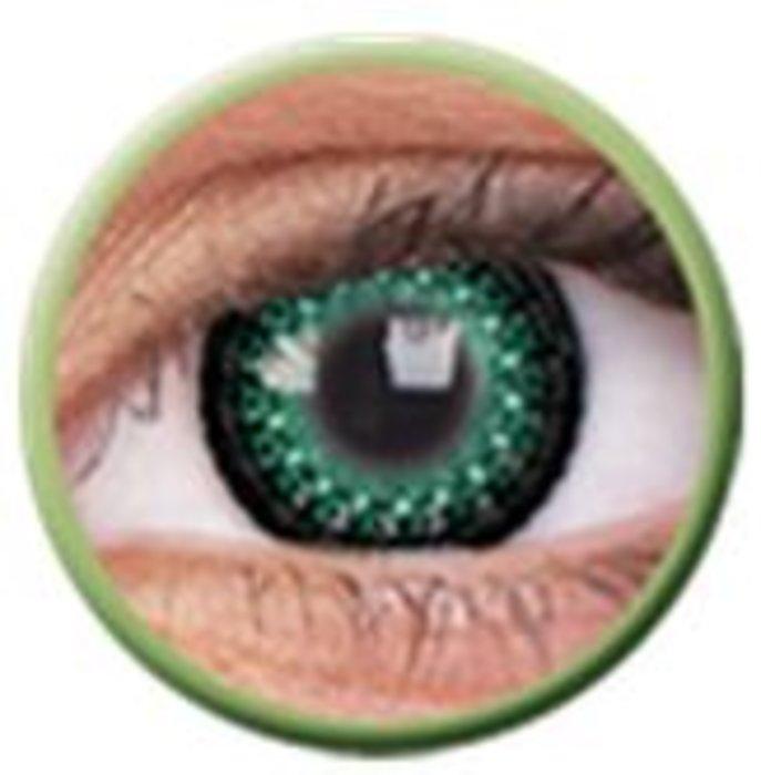 maxvue vision ColourVue Eyelush - Green (2 čočky tříměsíční) - nedioptrické