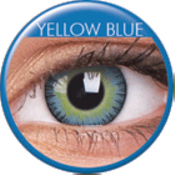 maxvue vision ColourVue Fusion - Yellow Blue (2 čočky tříměsíční) - dioptrické Dioptrie -8,00, Zakřivení 8.6