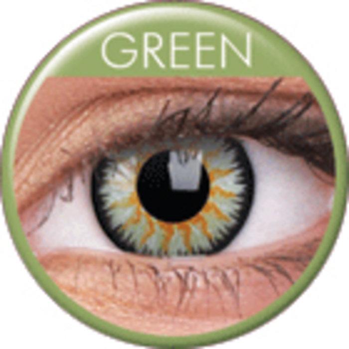 maxvue vision ColourVue Glamour - Green (2 čočky tříměsíční) - nedioptrické