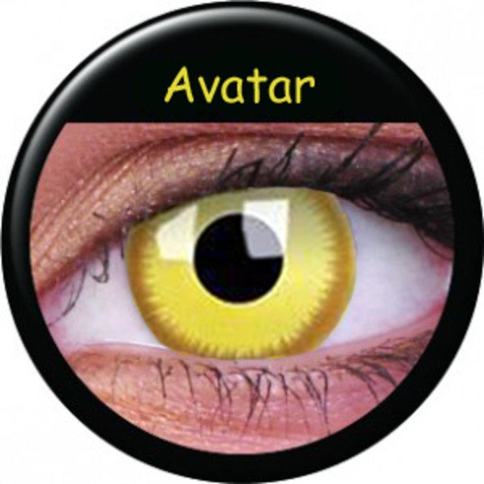 maxvue vision ColourVue Crazy čočky - Avatar (2 ks roční) - nedioptrické