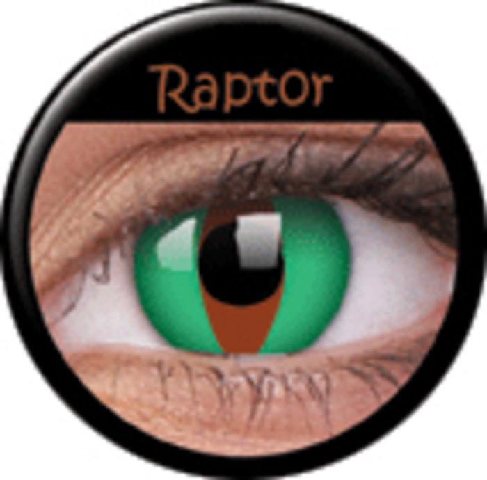 maxvue vision ColourVue Crazy čočky - Raptor (2 ks roční) - nedioptrické