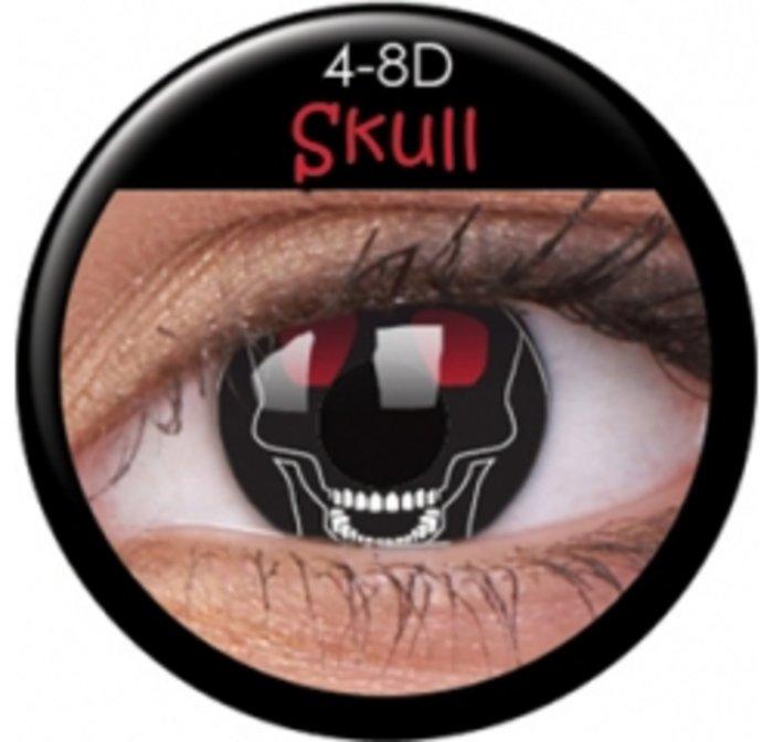 maxvue vision ColourVue Crazy čočky - Skull (2 ks roční) - nedioptrické