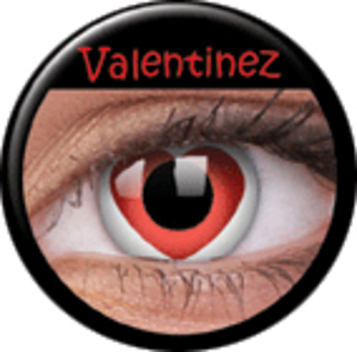 maxvue vision ColourVue Crazy čočky - Valentinez (2 ks roční) - nedioptrické