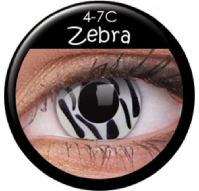 maxvue vision ColourVue Crazy čočky - Zebra (2 ks roční) - nedioptrické