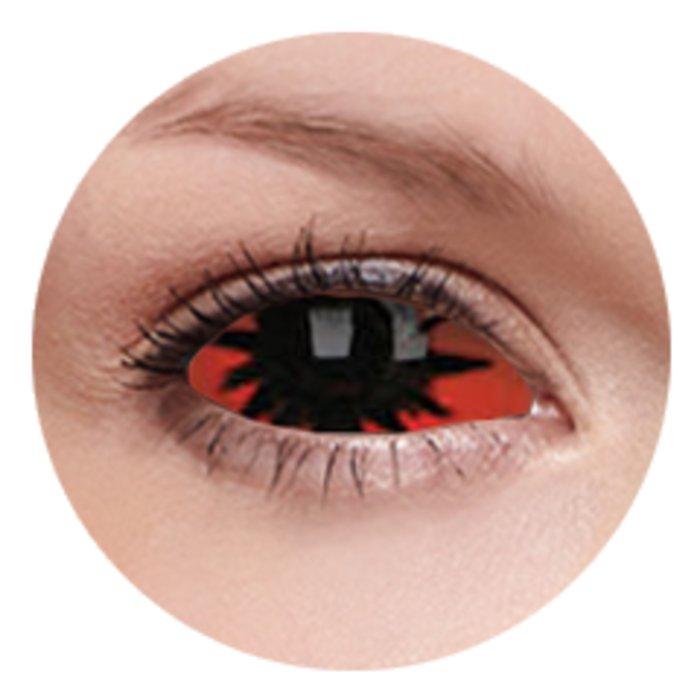 maxvue vision ColourVue Crazy čočky Sklerální - Omega Red (2 ks půlroční) - nedioptrické