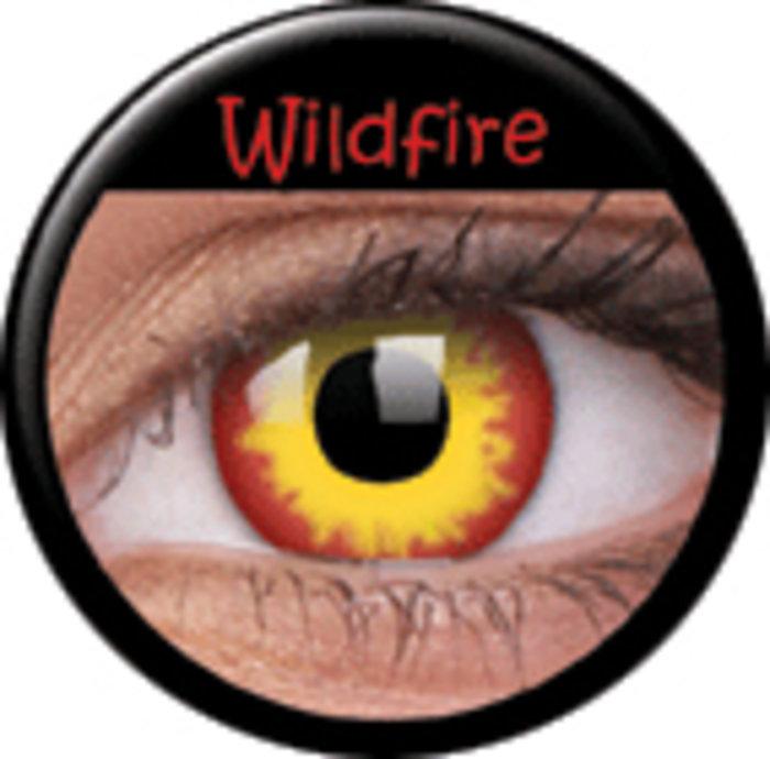 maxvue vision ColourVue CRAZY ČOČKY - Wildfire (2 ks tříměsíční) - dioptrické Dioptrie -6,00, Zakřivení 8.6