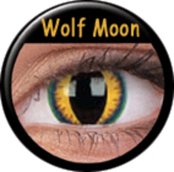 maxvue vision ColourVue CRAZY ČOČKY - Wolf Moon (2 ks tříměsíční) - nedioptrické