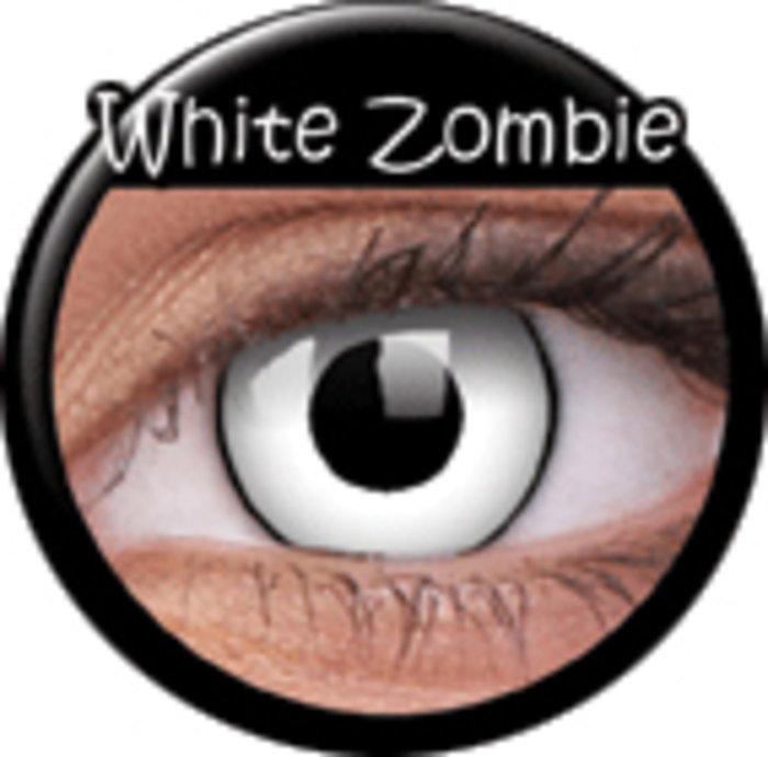 maxvue vision ColourVue CRAZY ČOČKY - White Zombie (2 ks tříměsíční) - dioptrické Dioptrie -6,00, Zakřivení 8.6