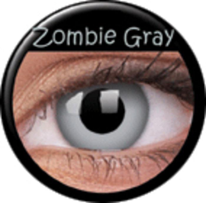 maxvue vision ColourVue CRAZY ČOČKY - Zombie Grey (2 ks tříměsíční) - dioptrické Dioptrie -6,00, Zakřivení 8.6