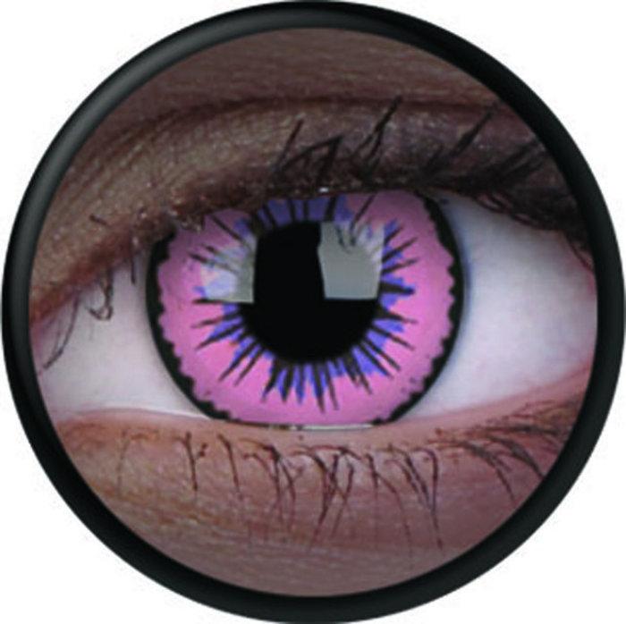 maxvue vision ColourVue Crazy čočky UV svítící - Glow Pink Jubilee (2 ks roční) - nedioptrické