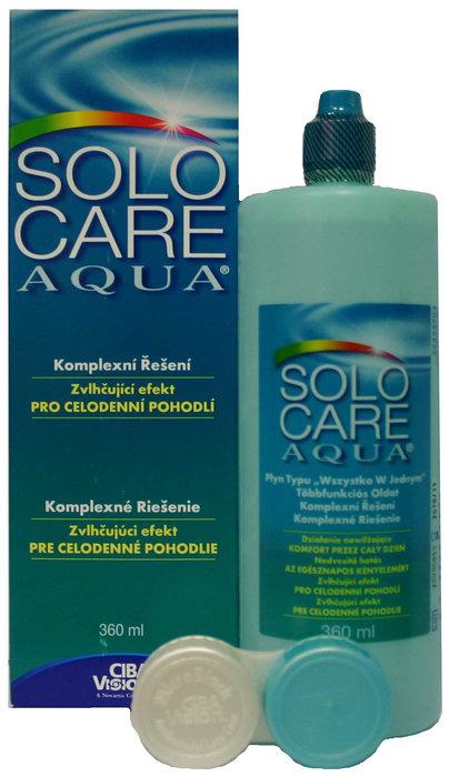 Alcon SoloCare Aqua 360 ml s pouzdrem - poškozený obal