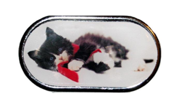 OPTIPAK LIMITED Pouzdro se zrcátkem Vánoční motiv - Kotě ležící v šále