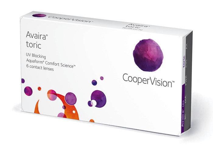 Cooper Vision AVAIRA TORIC (6 čoček) Dioptrie -2,25, Cylindr -1,25, Osa 100°