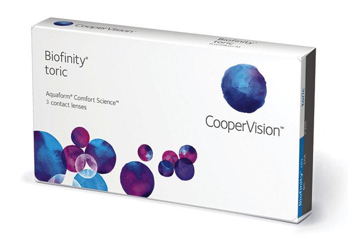 Cooper Vision Biofinity Toric (3 čočky) Dioptrie -2,75, Cylindr -2,25, Osa 10°