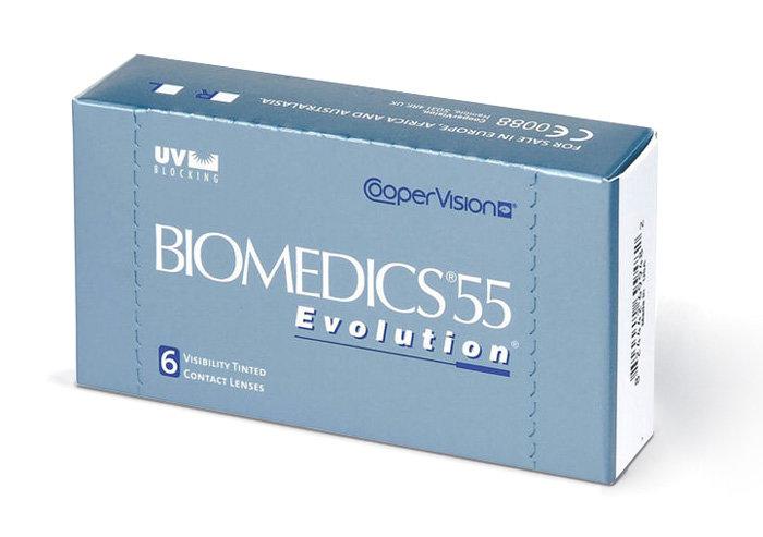 Cooper Vision Biomedics 55 Evolution (6 čoček) Dioptrie -10,00, Zakřivení 8.6