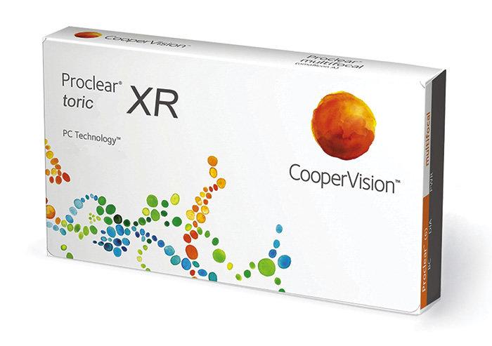 Cooper Vision Proclear Toric XR (3 čočky) Dioptrie +4,00, Cylindr -3,75, Osa 80°