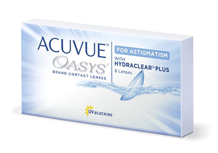 Johnson & Johnson Acuvue Oasys for Astigmatism (6 čoček) - výprodej skladu Dioptrie -2,50, Cylindr -2,25, Osa 20°
