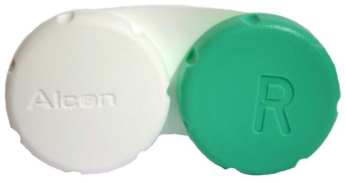 Alcon Pouzdro na kontaktní čočky zeleno-bílé